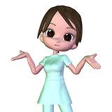 3d Cartoon nurse