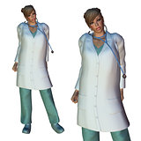3d Female doctor