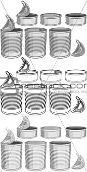 Canned Food Cans Pack