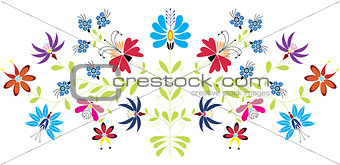 Folk floral pattern