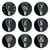 Ideas - bulbs set of icons