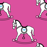 Rocking horse wallpaper