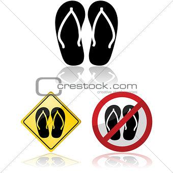 Flip flop signs