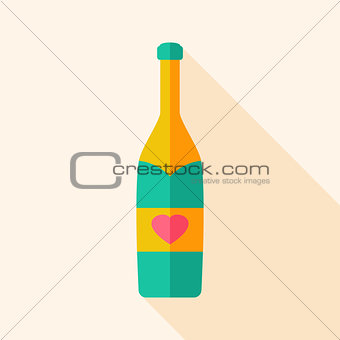 Alcohol bottle with heart