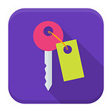 Key app icon with long shadow