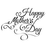 Happy Mothers's Day vintage lettering background