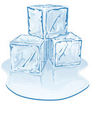 ice cube pile
