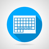 Round vector icon for menstruation calendar