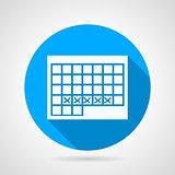 Round vector icon for menstruation calendar