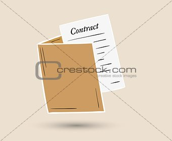 folder with contract paper