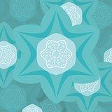 Turquoise flower illustration