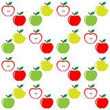 Seamless pattern of set apples