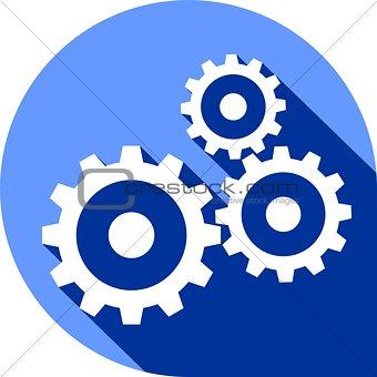 flat icon - gear