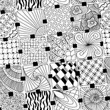 vector doodles pattern zentangle