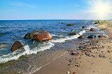 Baltic coast on a Sunny day
