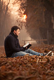 Reading in the leaves
