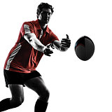 rugby man player silhouette