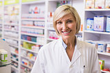Pharmacist smiling at camera