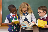 Pupils reading books