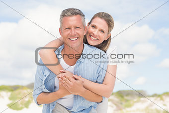 Happy couple having fun together
