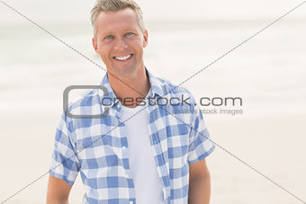 Casual man smiling at camera