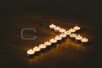 Candles in shape of cross