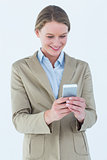 Businesswoman using her mobile phone