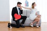 Businessman kissing his girlfriend hand