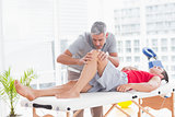 Man having leg massage