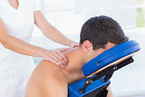Man having back massage