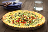 Zucchini and Bell Pepper Quiche