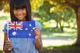 Cute little girl with australian flag