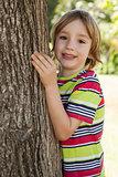 Happy little boy in the park