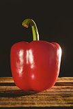Red pepper on chopping board