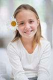 Cute little girl smiling at camera