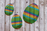 Composite image of easter eggs