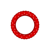 Red pool ring with white dots