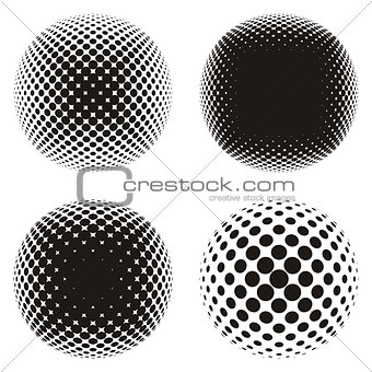 Black halftone design elements
