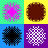 Colorful halftone design elements