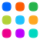 Colorful halftone buttons