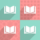 Book icon on colorful backgrounds