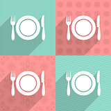 Menu icon on colorful backgrounds