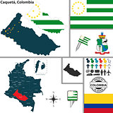 Map of Caqueta, Colombia