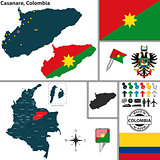Map of Casanare, Colombia