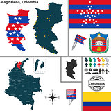 Map of Magdalena, Colombia