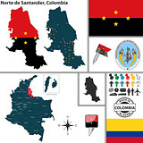 Map of Norte de Santander, Colombia