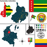 Map of Santander, Colombia