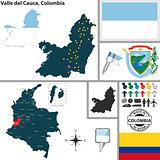 Map of Valle del Cauca, Colombia