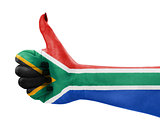 Flag of Republic of South Africa on hand