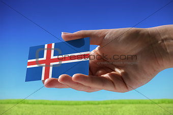Small flag of Iceland